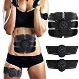 Ems Muscle Stimulator,Abdominal Muscle Toner Abs Trainer Fitness Training Gear ABS Fit Weight Muscle...