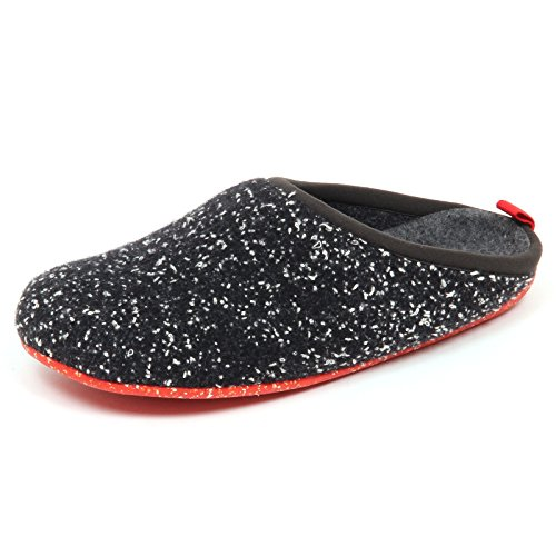 Camper D9902 (Without Box) Pantofole Uomo Tissue Wabi Nero Slipper Shoe Man nero/bianco