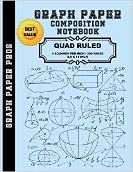 graph paper composition book 200 pages quad ruled 1 4 inch