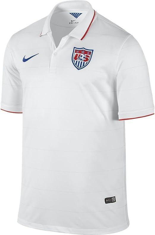 Jersey Replica Home White Royal 14/16 Usa Nike: Amazon.es ...