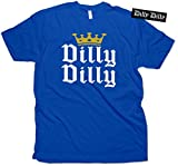 Funny Beer T-Shirt Dilly Dilly Shirt & Vinyl Sticker Royal Blue (Small)