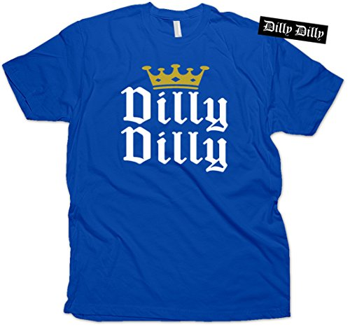 Dilly Dilly Gold Crown T-Shirt & Sticker Royal Blue (X-Large)