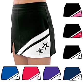 Pizzazz Black Red Cheer Uniform Skirt Adult 2XL