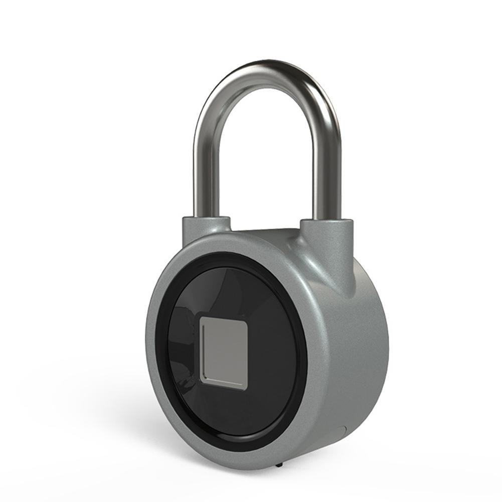 RONDA Bluetooth Fingerprint Padlock IP65 Waterproof Smart Security Lock with 15 Sets of Fingerprint Suitable for House Door, Backpack, Suitcase, Bike, Gym, Office
