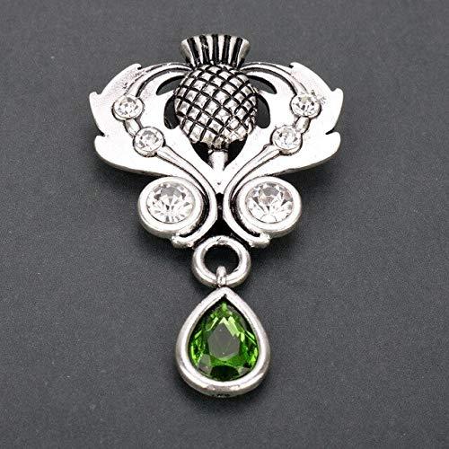 - FITIONS - Outlander Brooch Scotland Thistle Crystal Brooches Celtics Knot Female Men Shirt Brooch Pins Vintage Women's brooch-40