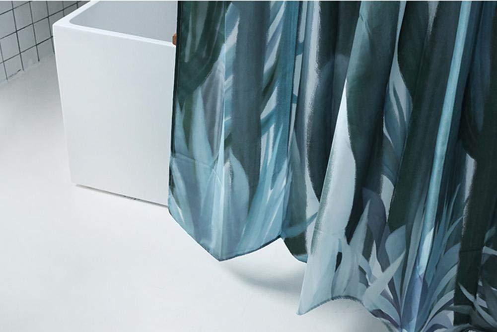 GouuoHi Home Shower Curtain 1pcs Polyester Fabric Waterproof Shower Curtain Environmental Bathroom Amenities Soild Color Blue 180cm 200cm
