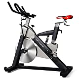 L NOW Professional Indoor Cycling Bike With LCD Monitor and 55lb flywheel - Commercial Standard