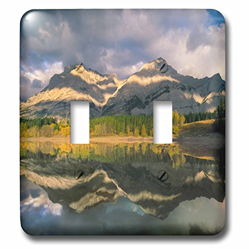 3dRose Danita Delimont - Mountain - Mount Kidd, Kananaskis Country, Alberta - Light Switch Covers - double toggle switch (lsp_257444_2) - Kidd Photo