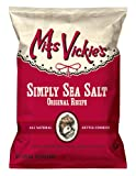 Miss Vickie's Kettle Cooked Potato Chips, Simply Sea Salt, 1.375-Ounce Large Single Serve Bags (Pack of 64)