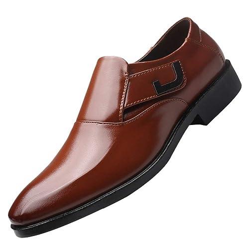 Hombres Mocasines Oxfords Primavera Otoño Hombres Zapatos de Boda Formales Hombres Zapatos de Vestir de Negocios Zapatos Puntiagudos: Amazon.es: Zapatos y ...