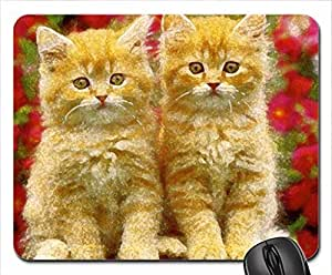 Fluffy kittens Mouse Pad, Mousepad (Cats Mouse Pad, 10.2 x 8.3 x 0.12 inches)