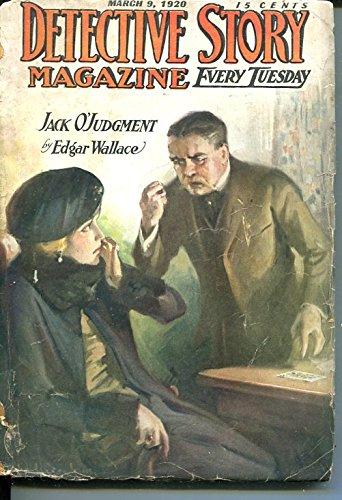 Detective Story Magazine March 9 1920 Edgar Wallace Beeston Hankins Good   G