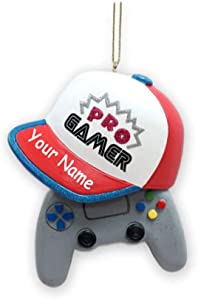 Knextion, Inc Personalized Pro Gamer Video Game Player Holiday Christmas Ornament with Custom Name