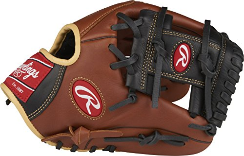 (Rawlings Sandlot Series Leather Conventional Back Gloves, 11-1/2