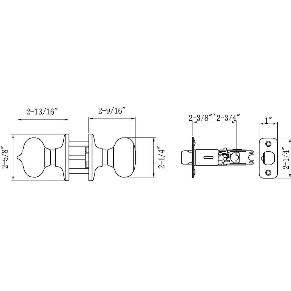 Satin Nickel Design House 754705 Pro Cambridge Entry Door Knob