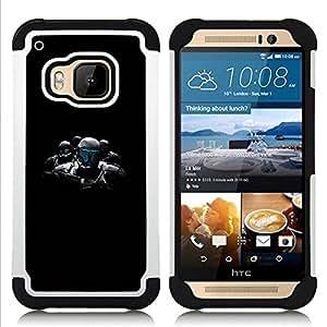 """Pulsar ( Ai Tecnología Robot Futurismo Arte Policía"""" ) HTC One M9 /M9s / One Hima híbrida Heavy Duty Impact pesado deber de protección a los choques caso Carcasa de parachoques"""
