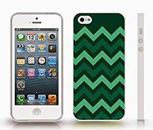 iStar Cases? iPhone 4 Case with Chevron Pattern Forest Green/ Green/ Light Green Stripe , Snap-on Cover, Hard Carrying Case (White)