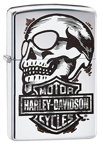 Zippo Harley-Davidson Skull & Logo High Polish Chrome Pocket - Logo Sunglasses Company