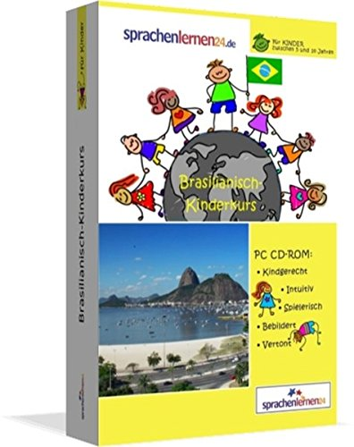 Brasilianisch-Kindersprachkurs von Sprachenlernen24: Kindgerecht bebildert und vertont für ein spielerisches Brasilianischlernen. Ab 5 Jahren. PC CD-ROM für Windows 10,8,7,Vista,XP / Linux / Mac OS X