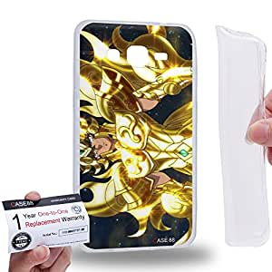 Case88 [Samsung Galaxy Grand Prime] Gel TPU Carcasa/Funda & Tarjeta de garantía - Saint Seiya Gold Saints Sagittarius Seiya 2167