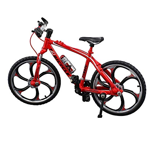 Urchins' Family Alloy Mini Bicycle Toy - Finger Bike for Collections (Straight Handlebar Racing Bike Red)
