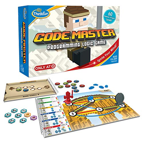 ThinkFun Code Master Programming Logic Game and STEM Toy for Boys and Girls Age 8 and Up – Teaches Programming Skills Through Fun Gameplay -