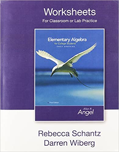 Worksheets for Classroom and Lab Practice for Elementary Algebra ...