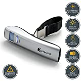 Digital Luggage Scale Dunheger 110 lb FREE: Carrying Bag + E-Guide + AAA Batteries