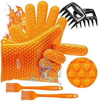 3-Pieces Housmile Grilling Silicone Gloves