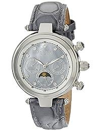 Akribos XXIV Women's AK441GY Classic Diamond Automatic Grey Dial Watch