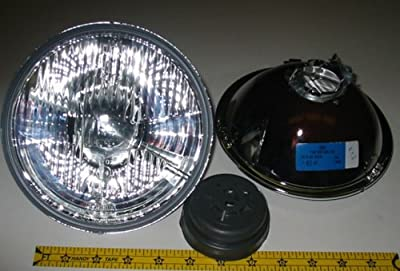 "Hella 7"" Round E Code H4 Halogen Replacement Headlight Kit with Standard 60/55W H4 Bulbs"