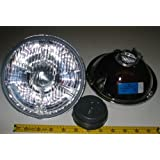 """Hella 7"""" Round E Code H4 Halogen Replacement Headlight Kit with Standard 60/55W H4 Bulbs"""