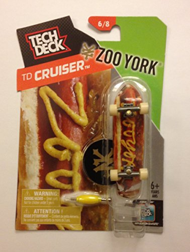 TECH DECK TD Cruiser Zoo York 6/8 Finger board Display - Tech Deck Display