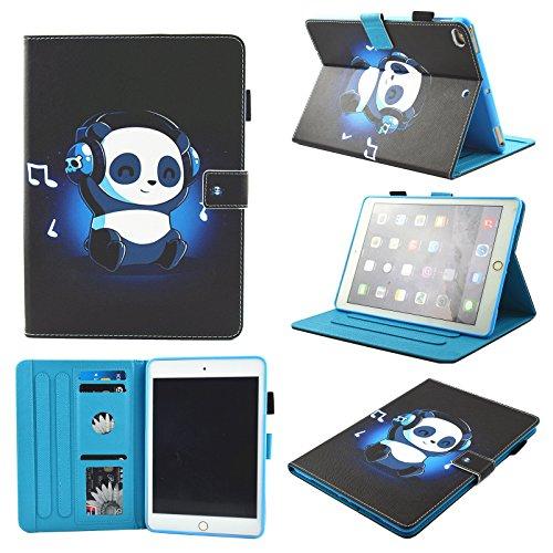 IPad mini Case,Mini 2/3/4 Case Chgdss [Corner Protection]Auto Wake/Sleep Multi-Angle Viewing Folio Stand Cover/Card Slots for Apple iPad mini 4/iPad mini 3/iPad mini 2/iPad mini 1 - Music panda
