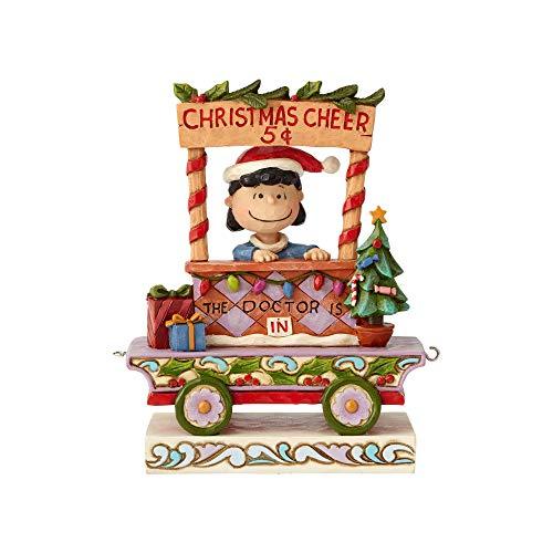 Enesco Peanuts by Jim Shore Lucy Christmas Train Car Figurine, 5.43