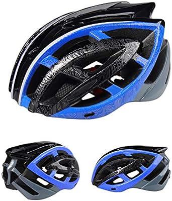 Creamon Casco para Bicicleta, Casco para Bicicleta Casco Ultraligero EPS + para PC Casco para Bicicleta de Carretera MTB Casco para Bicicleta Azul: Amazon.es: Hogar