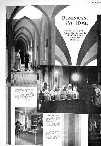 Print 1930 Dominicans Monastery Saint Paul Berlin Telephone Monks - Telephone Berlin