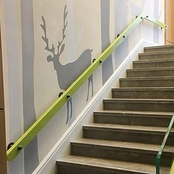 ACZZ Barandilla de la barandilla de la escalera Barandilla (1Ft ~ 20Ft), Barandillas de seguridad antideslizantes para escaleras de madera maciza, Hogar contra la pared Loft interior Ancianos Kinderg: Amazon.es: Bricolaje y