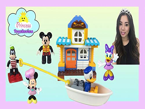 Clip: Lego Duplo Disney Mickey and Friends Beach House Unboxing with Princess ToysReview