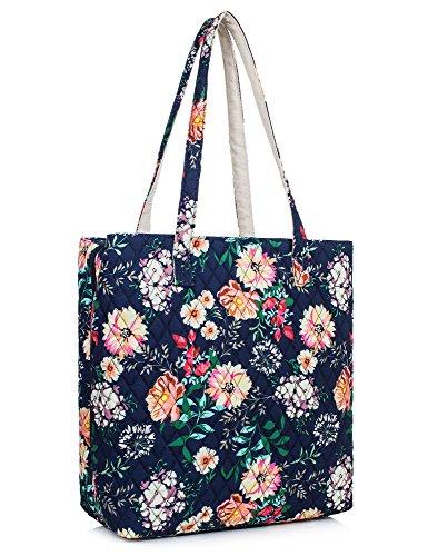Leaper Chic Women Tote Bag Single Shoulder Bag Floral Handbag Floral dark ()