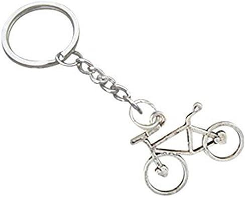 llavero de bicicleta, llavero de plata, colgante de bicicleta ...