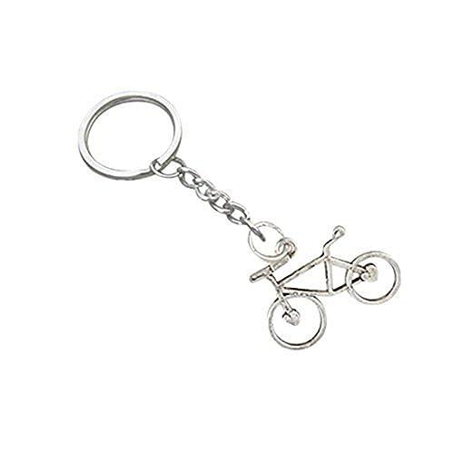 llavero de bicicleta, llavero de plata, colgante de ...