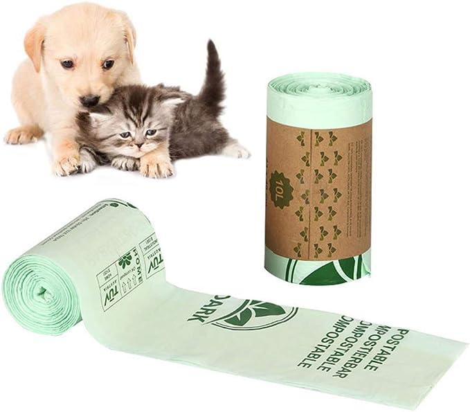 Deniseonuk 1 Roll Pet Dog Waste Poop Bag Poo Printing Clean-up Bag Outdoor Home Garbage Bag Carrier Pet Supplies