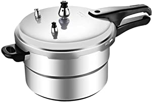 Cabilock Stainless Steel Pressure Cooker Pressure Canner Dishwasher Safe Fast Cooker Home Kitchen Pot for Rice or Soup