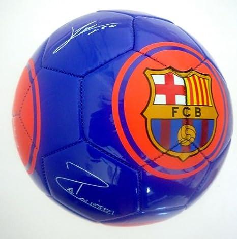 Barcelona F.C. - Balón de fútbol, tamaño 5, con autógrafos y ...