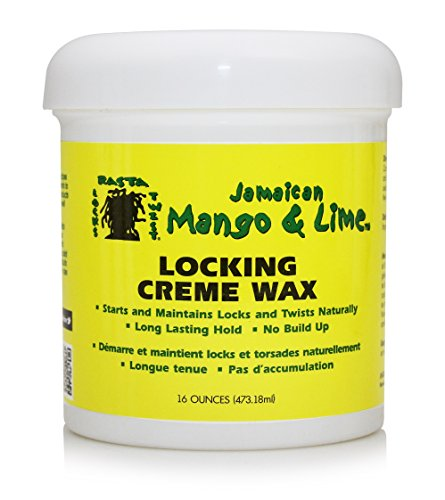 Jamaican Mango and Lime Locking Creme Hair Wax, 16 Ounce (Pack of 6)