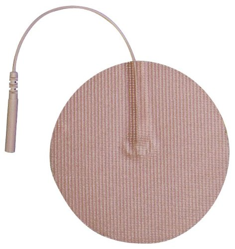 3B Scientific W63220 Round Comfort-Stim Elite Tan Tricot Electrodes, 3'' Diameter
