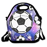 ZMvise Soccer Ball Cool Lunch Tote Insulated Reusable Picnic Lunch Bags Boxes Men Women Kids Toddler Nurses Travel Bag