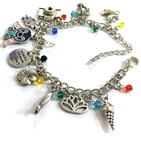 Disney Lilo And Stitch Costumes (Lilo and Stitch Charm Bracelet Jewelry Merchandise - Christmas Disney Bracelet Gifts)