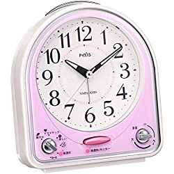 Seiko CLOCK clock melody 31 songs ! Analog alarm clock (pink) NR435P